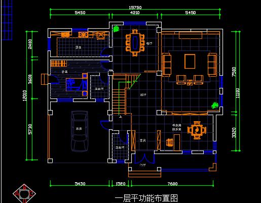 中式别墅平面布置图