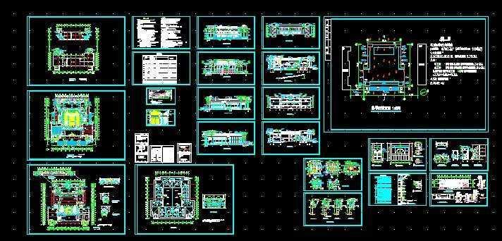 大学礼堂建筑施工图免费下载 建筑规划图