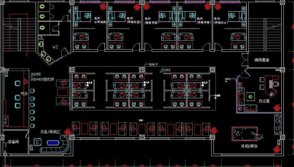 网吧装修设计免费下载 - 建筑规划图 - 土木工程网