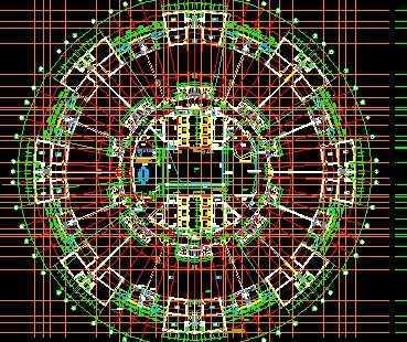 圆形建筑施工图