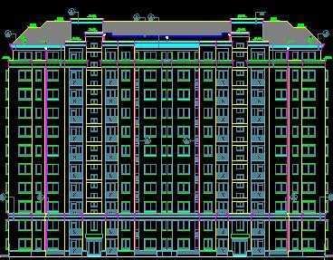 上海小高层住宅楼CADv高层图纸免费下载下cad打印吧能看图快速图片