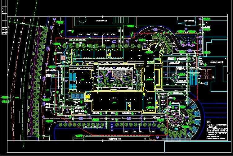 某学校景观施工平面图