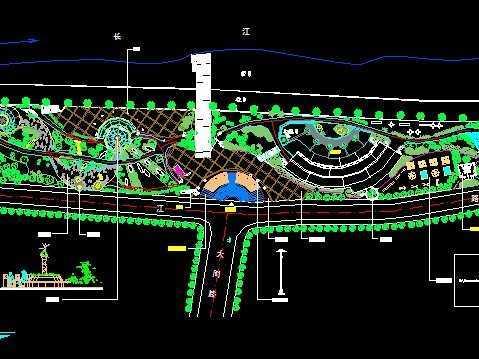 某镇公园景观及绿化设计平面图
