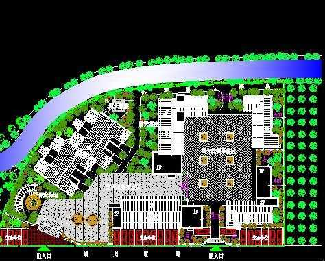 农家乐饭店规划平面图