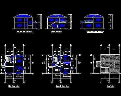 两层小别墅设计图