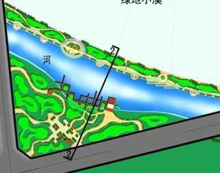 河道景观规划设计平面图