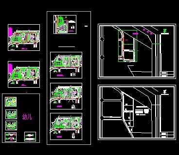 某三层幼儿园建筑设计方案图