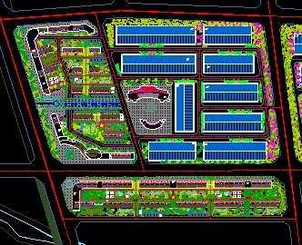 某工业园区规划设计图