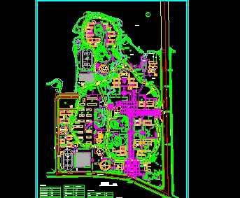 某大学新校区总平面图免费下载 建筑规划图