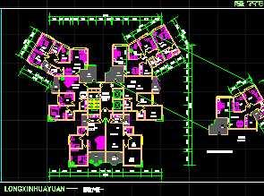 一梯六户住宅户型平面图免费下载 建筑户型平面图