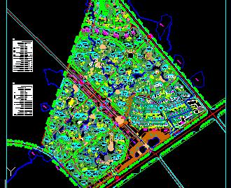 某住宅小区景观规划平面图