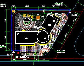 办公楼规划总平面图