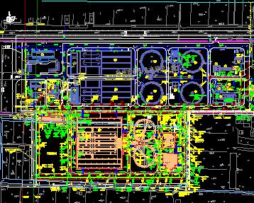 某污水处理厂二期扩建工程地形图