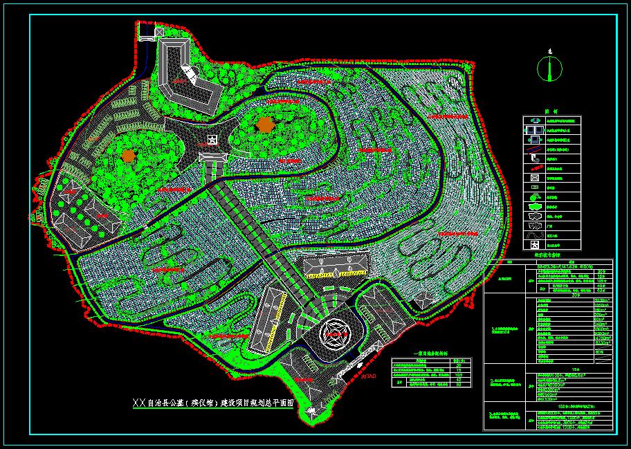 xx县公墓规划设计图