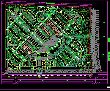小区景观规划总平面图