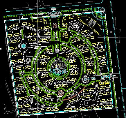 某多层及别墅居住小区规划总平面图