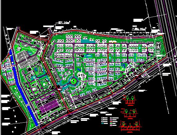 某小区详细建筑规划图纸