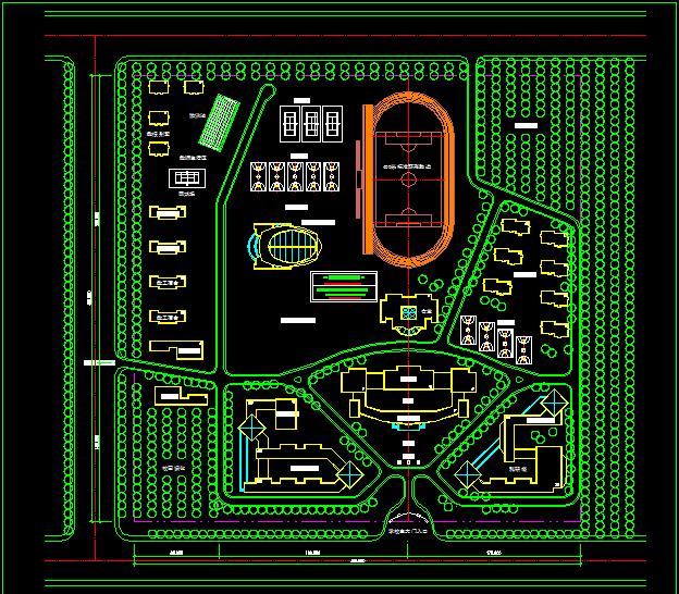 大学校园总体规划图图片