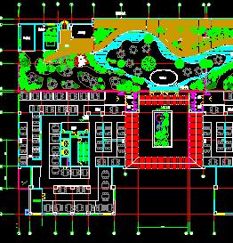 商务会所室内景观设计图纸