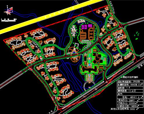 某行政中心规划设计总平面图