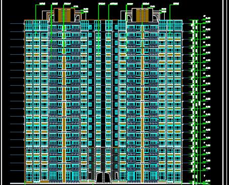 二十层商业楼建筑设计图纸