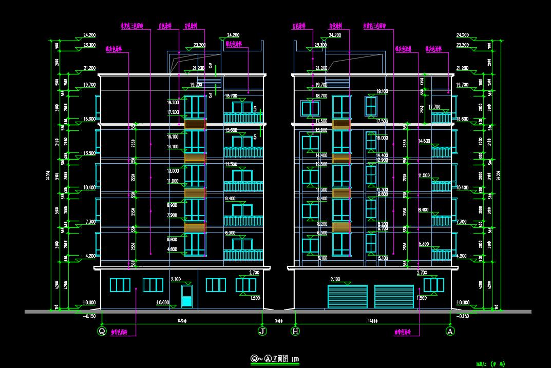 住宿办公综合楼建筑设计图纸免费下载 - 建筑规划图