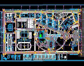 某学院新校区总平面规划图