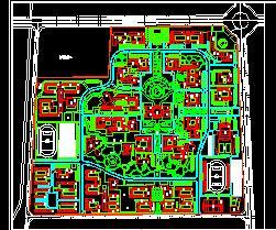 大学新校区修建性详细规划设计图纸