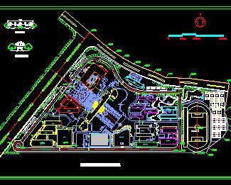 某技师学院道路交通规划设计图纸