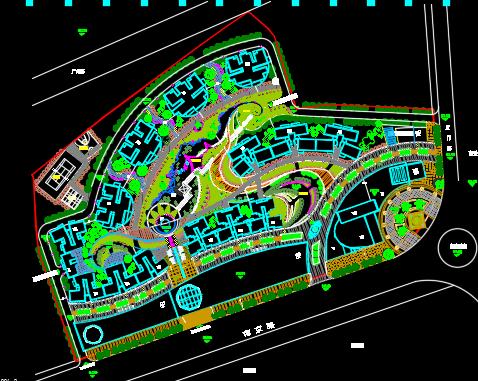 某综合小区规划平面图纸