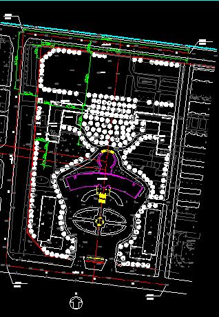 政府办公楼建筑总平面设计规划图