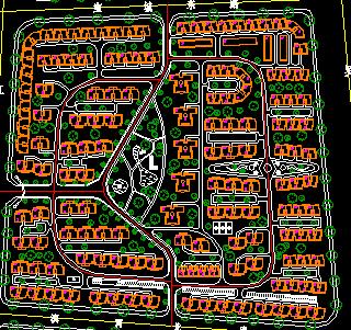 小区住宅规划总平面图