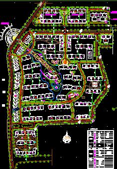 商住区总平面布置规划图