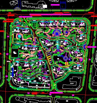住宅区建设平面规划图