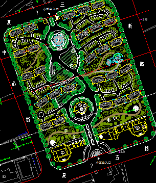 商住区建设规划平面图