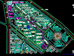 住宅区规划总平面图