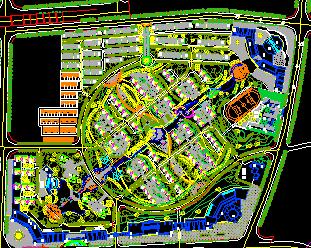 住宅区详细总平面规划图