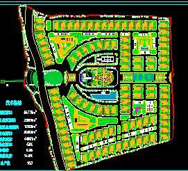 84776平米别墅小区规划总平面图