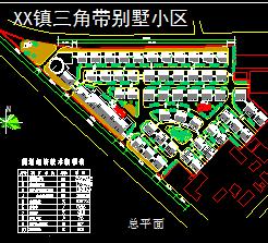 26193.2平米三角带别墅区规划设计图
