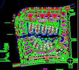 18.25万平米别墅居住区规划设计图纸