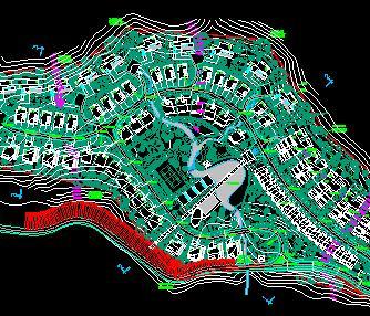 某别墅居住区规划总平面图