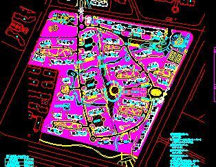 127318平米住宅区规划总平面图
