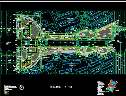天正电气软件下载_某商业街规划设计总平面图免费下载 - 建筑规划图 - 土木工程网