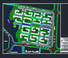 中式别墅区规划总平面图(含模型照片、文本及效果图)
