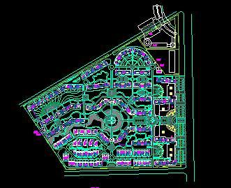 某居住区规划总平面图