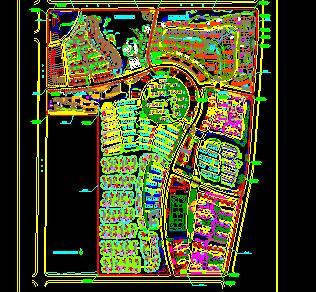 某大型住宅区总平面规划图
