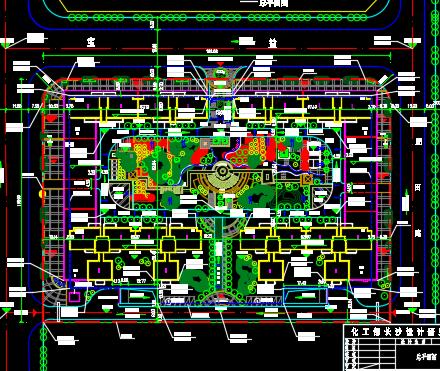 20000平米商品住宅区规划设计图纸