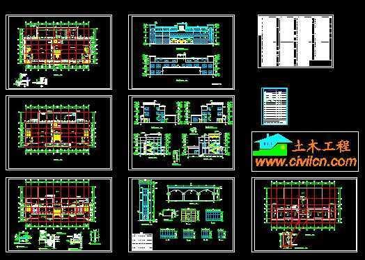 员工餐厅建筑图图片