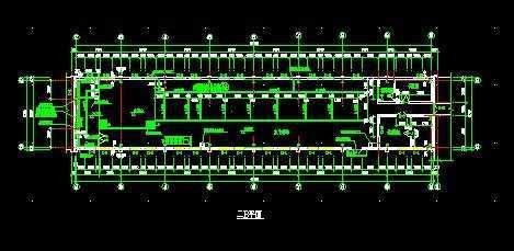 某钢结构厂房平立剖面图