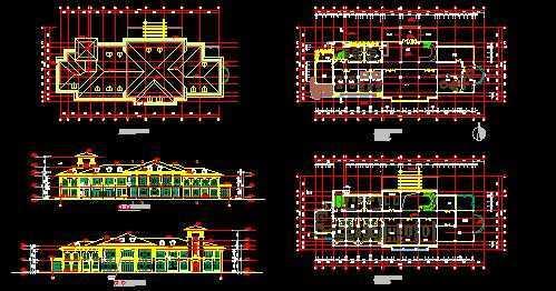 某小区公建会所设计图